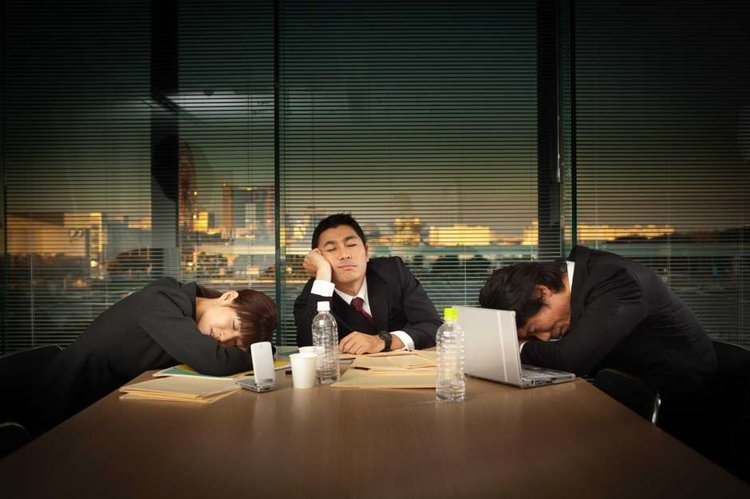 sleepy employees